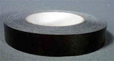 Flat Back Black Tape (roll)
