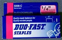 Genuine Duofast Staples <BR> 1/2 in. <BR> ( 1000 ct )