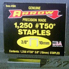 Genuine arrow T-50 Staples <BR> 9/16 in. <BR> ( 5000 Per Pack )