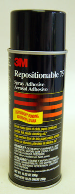 #75  3M Remounting Spray repositionable