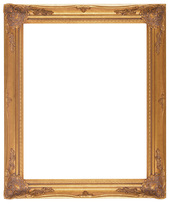 "FR43-Antique Gold with Compo<br>20""X24""<br>2-1/2"" Width, 3/8"" Rabbet"